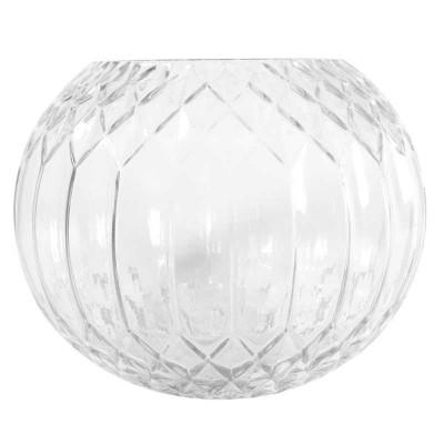 Clear Diagonal Bubble Vase