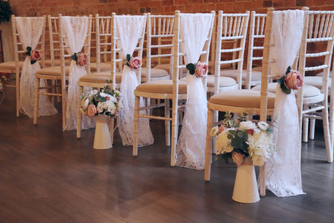 Vertical Lace Sashes