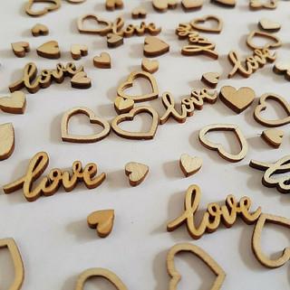 Wooden Heart Confetti