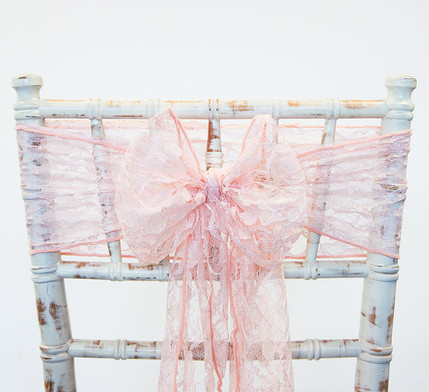 Blush Pink Lace Chair Sash