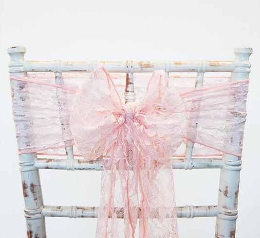 Blush Pink Lace Chair Sash