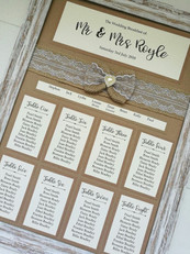 Hessian and Lace Table Plan