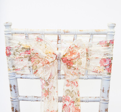 Floral Vintage Lace Chair Sash