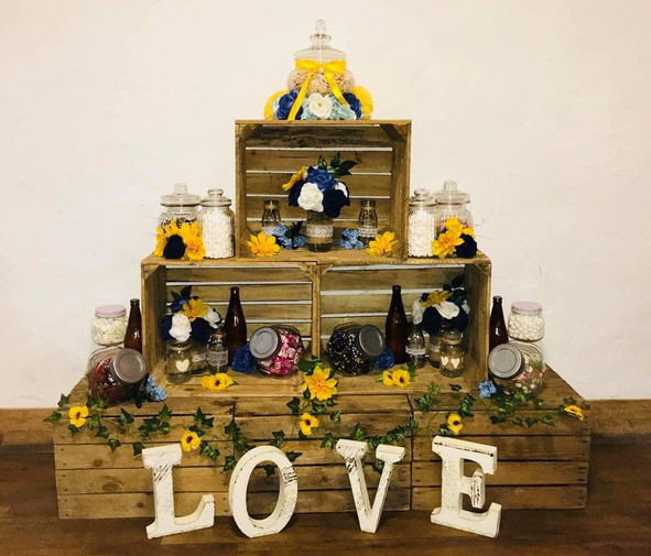 Wooden Crates Sweets Display