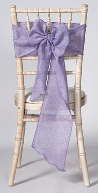 Lilac Linen Chair Sash