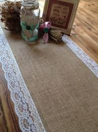 Hessian and Lace Table Runner