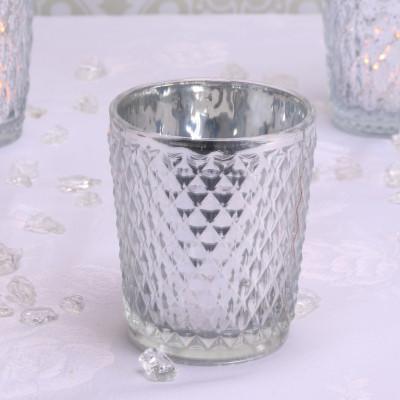 Silver Glass Votive