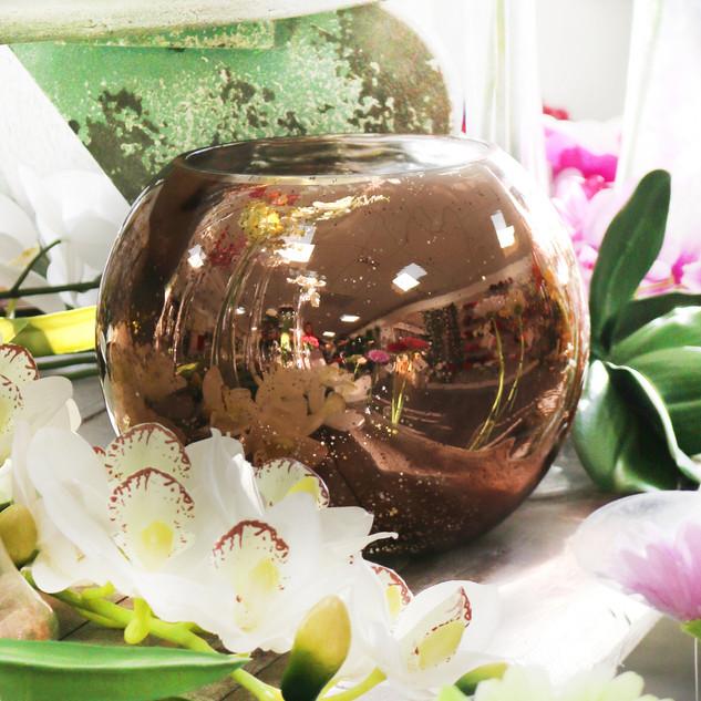 Rose Gold Bubble Vase