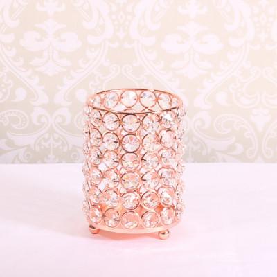 Rose Gold Crystal Effect Cylinder