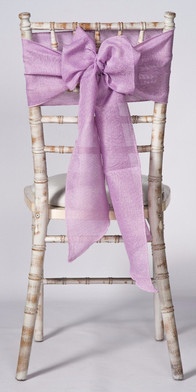 Lavender Linen Chair Sash