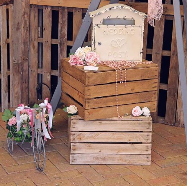Crates and Post Box