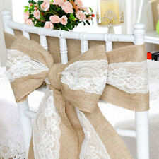 Hessian and Lace Chair Sash