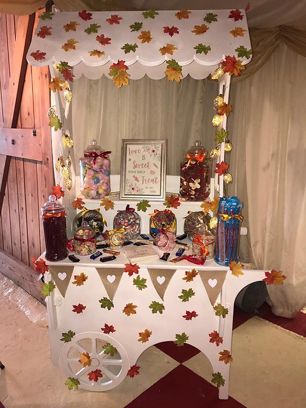 Autumn Candy Cart