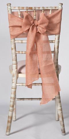 Dusky Pink Linen Chair Sash