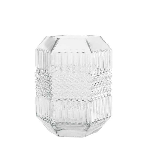Clear Geometric Vase