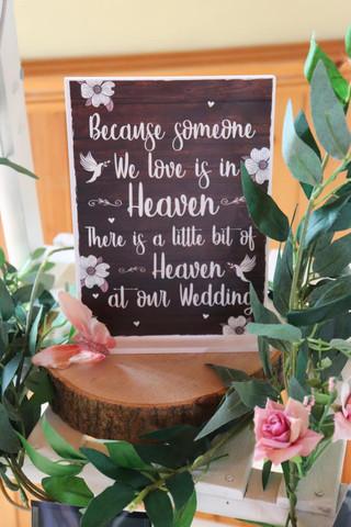 Heavenly Wedding Sign