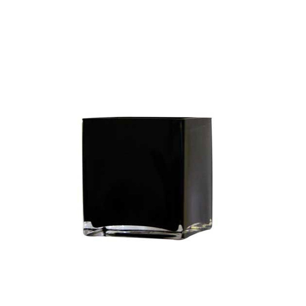 Black Cube Vase