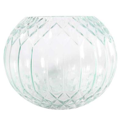Green Diagonal Bubble Vase