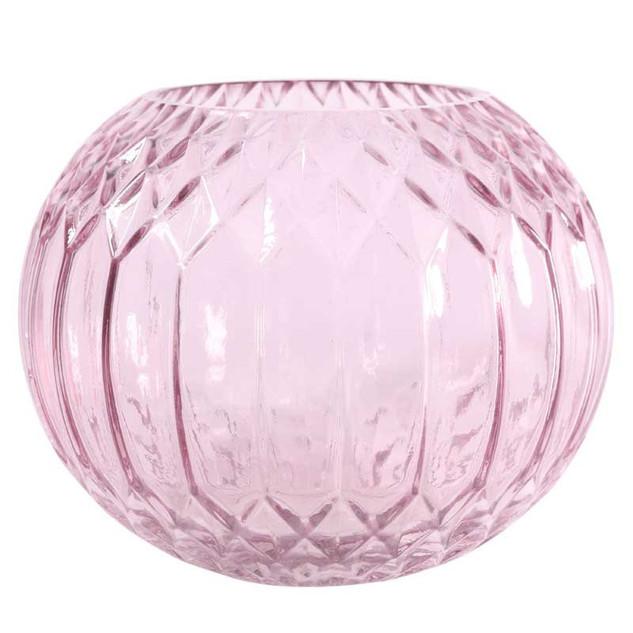 Pink Diagonal Bubble Vase