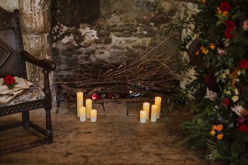 Beauty and the Beast fireplace