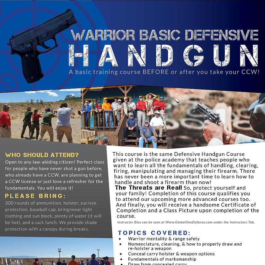 Defensive (Basic) Handgun Course