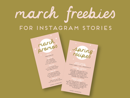 Freebie March Promo Graphics