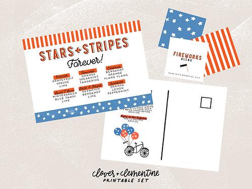 Stars + Stripes Patriotic Blends | Download + Print