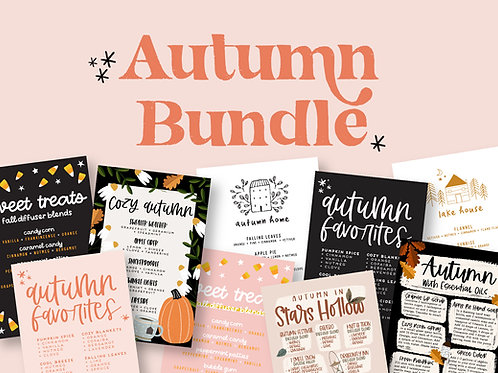 Autumn Bundle | Collection of Printable Cards, Stickers, and more!