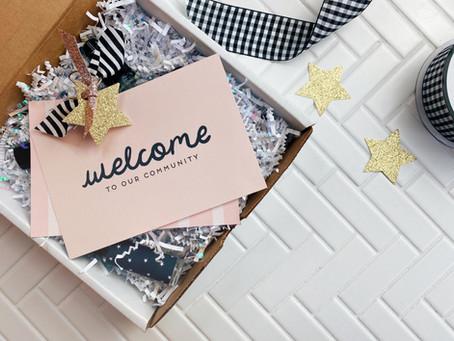 Freebie Welcome Cards