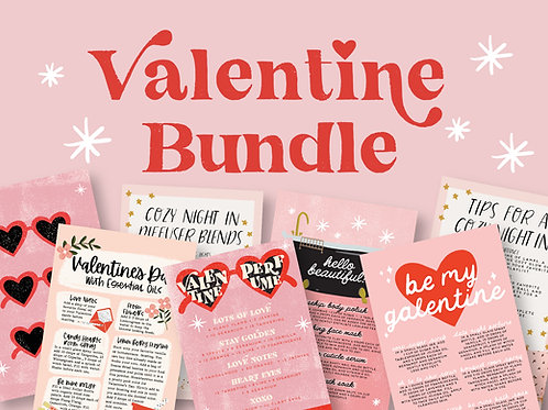 Valentine Bundle | Collection of Printable Cards, Stickers, and more! | Download