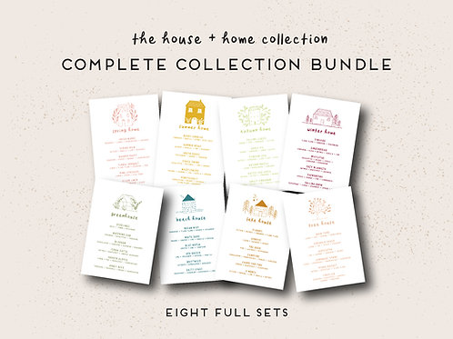 The Complete House + Home Collection Printable Set