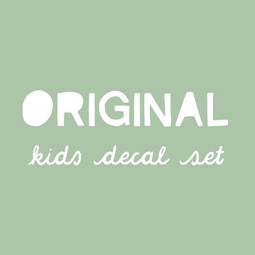 Original Kids Decal Set | Retired Font