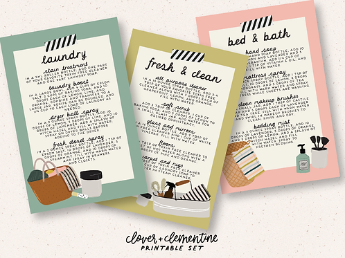 """""""Cleaning"""" DIY and Sticker Set 