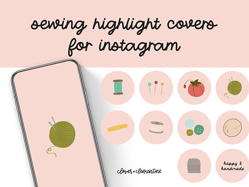 SEWING  Instagram Highlight Covers