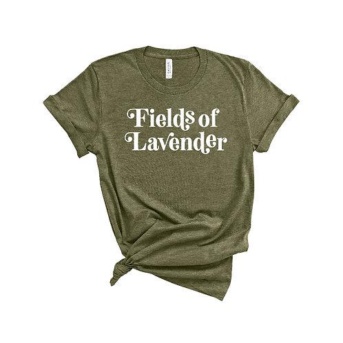 Fields of Lavender Tee   OLIVE Ladies Fit