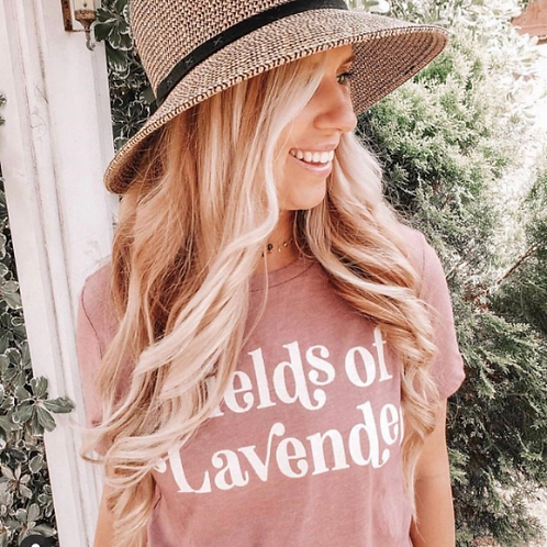 Fields of Lavender Tee | MAUVE Ladies Fit