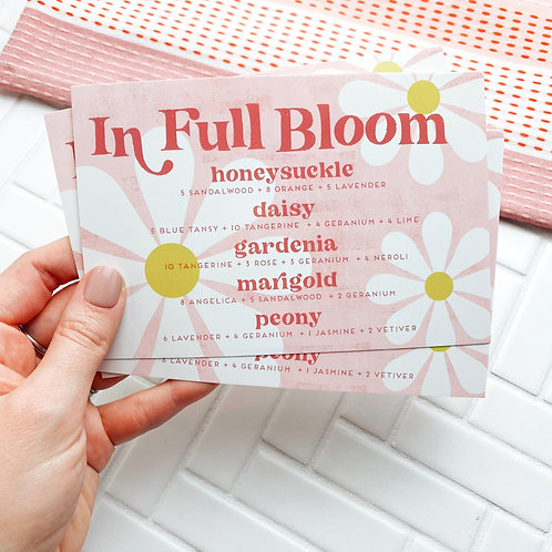 "PRINTED ""In Full Bloom"" Perfume Blend Card 