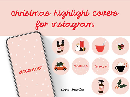 CHRISTMAS  Instagram Highlight Covers