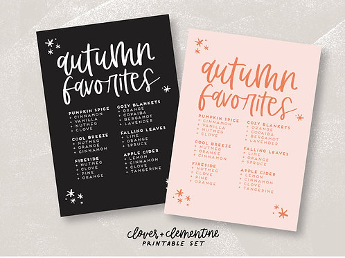 Autumn Favorites | Fall Blend Set