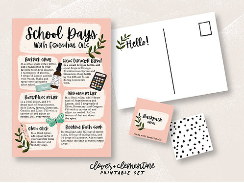 School Days with Essential Oils | Download + Print