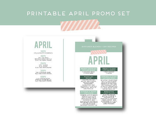"""April Promo"" Postcard and Label Set 