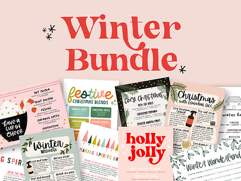 Winter Bundle | Collection of Printable Cards, Stickers, and more!