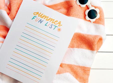 Freebie of the Week: Summer Fun List