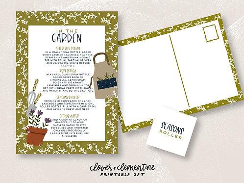 """""""In the Garden""""   DIY Set   Download + Print"""