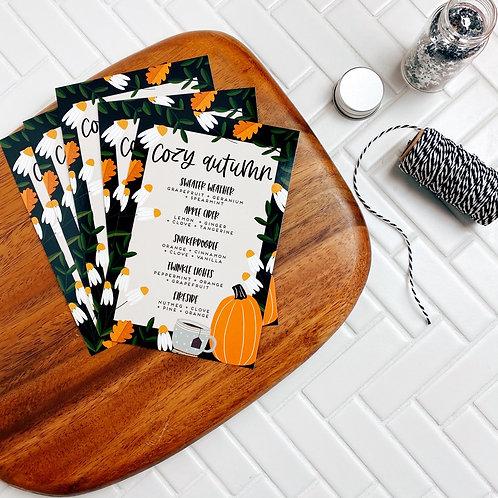 "PRINTED ""Cozy Autumn"" Postcard | 5 Pack"