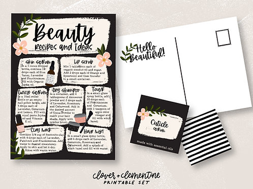 Beauty with Essential Oils | DIY Set | Download + Print