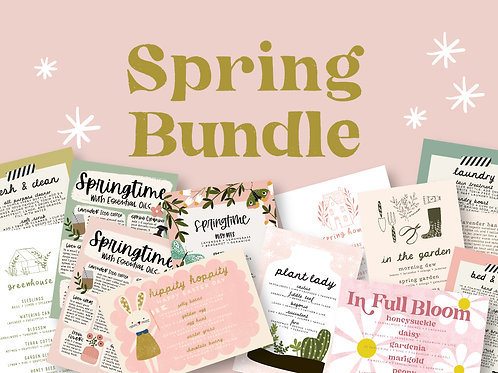 Spring Bundle | Collection of Printable Cards, Stickers, and more!