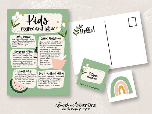 Oils for Kids | Download + Print
