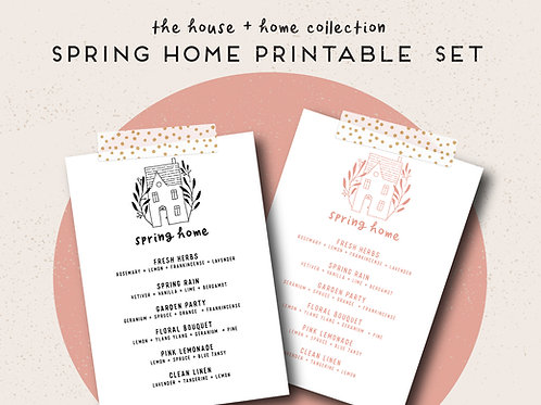 Spring Home | House + Home Collection Printable Set