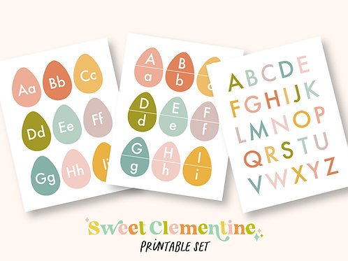 Download + Print   Egg Alphabet Early Learning Activities